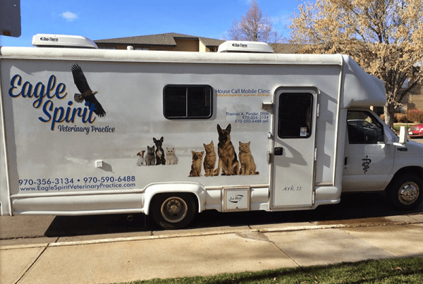 The outside of the Eagle Spirit mobile clinic